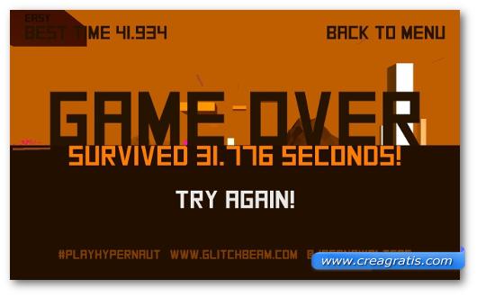 Schermata del gioco Hypernaut per Windows Phone