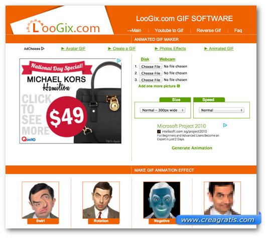 Immagine del sito Loogix