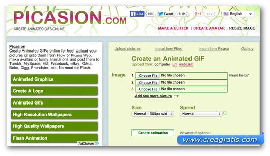 Immagine del sito Picasion