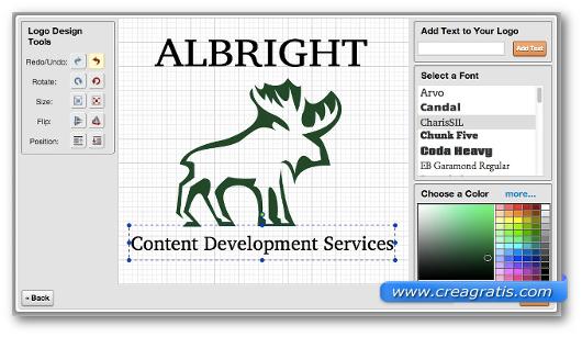 Modifica del logo su LogoYes