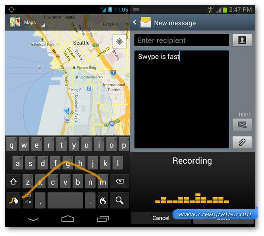 Schermate della tastiera Swype Keyboard per Android