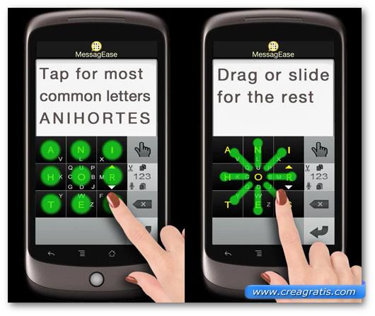 Schermate della tastiera MessagEase Keyboard per Android
