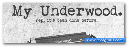 Immagine del font My Underwood