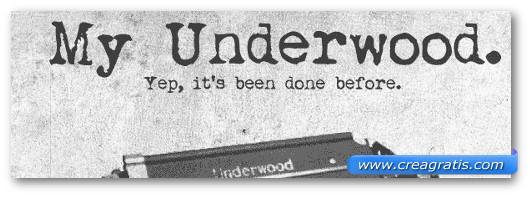 Immagine del font My Underwood