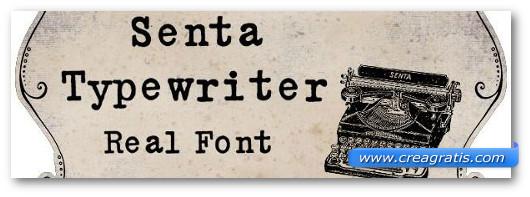 Immagine del font Senta Schreibmaschine Font