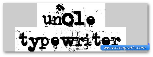 Immagine del font Uncle Typewriter