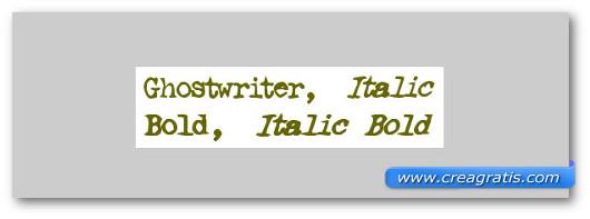 Immagine del font Ghostwriter Font