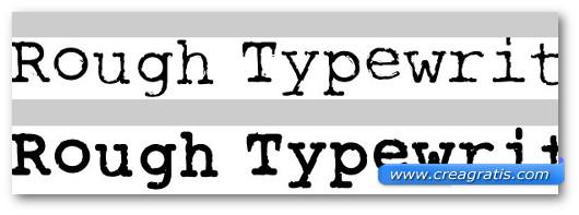 Immagine del font Rough Typewriter
