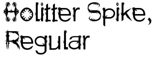 11-font-horror-Holitter-Spike