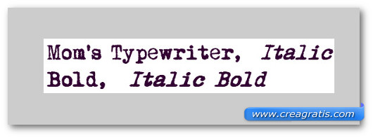 Immagine del font Mom's Typewriter Font