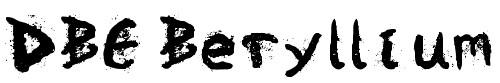 12-font-horror-DBE-Beryllium