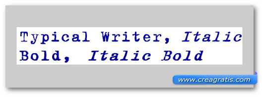 Immagine del font Typical Writer Font