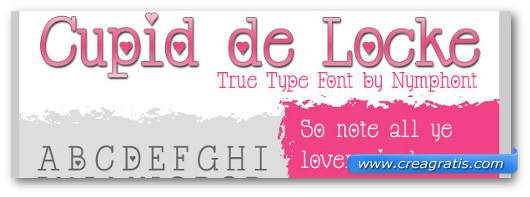 Immagine del font Cupid de Locke Font