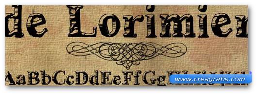 Immagine del font DeLorimier Font