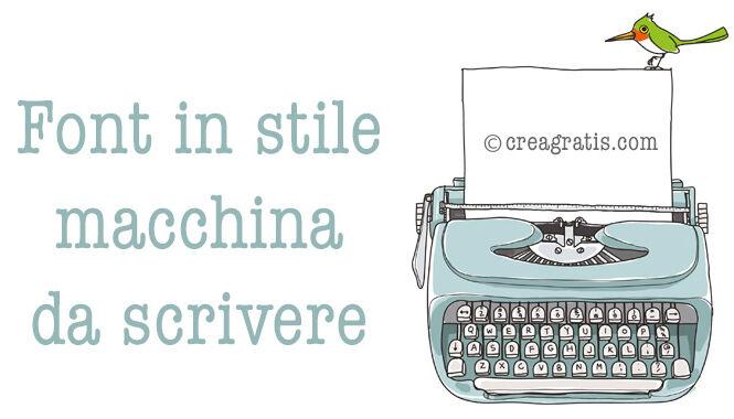 Font in stile macchina da scrivere