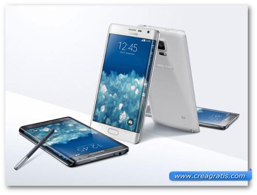 Immagine degli smartphone Samsung Galaxy Note Edge e Samsung Galaxy Note 3