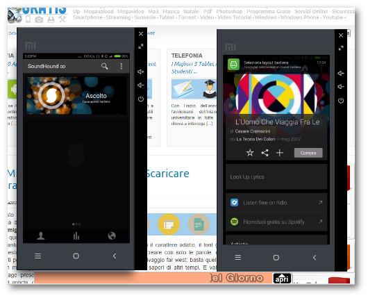 Schermate dell'applicazione SoundHound