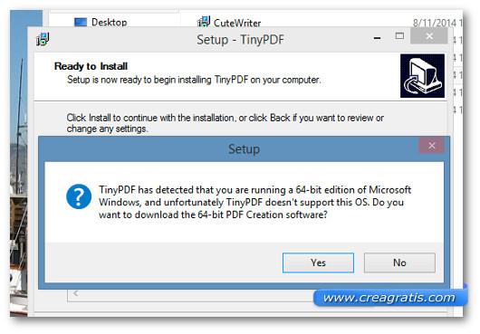 Interfaccia del programma TinyPDF