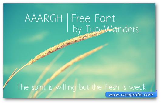 Esempio del font AAARGH