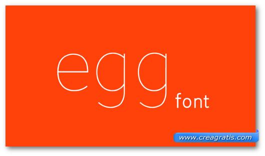 Esempio del font Egg Font