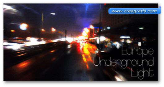 Esempio del font Europe Underground Light