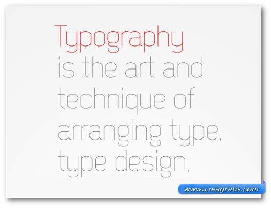 Esempio del font Decar Free Font