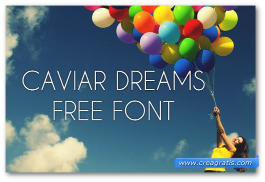 Esempio del font Caviar Dreams