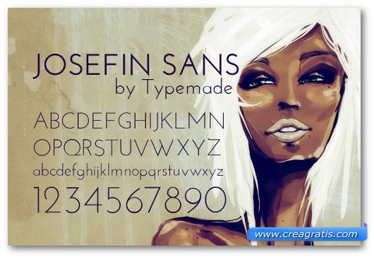 Esempio del font Josefin Sans