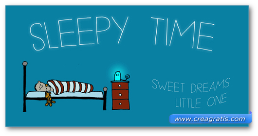 Esempio del font DK Sleepy Time