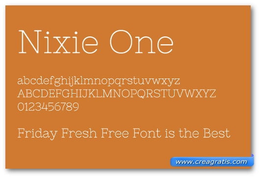 Esempio del font Nixie One