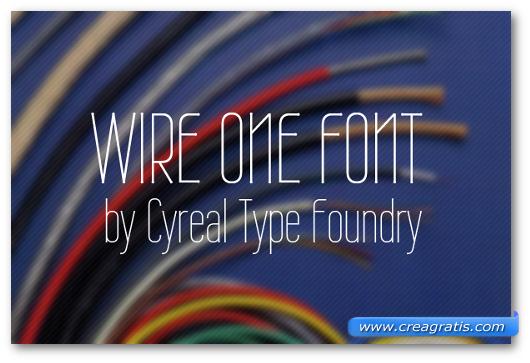 Esempio del font Wire One
