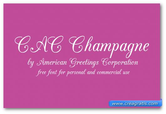 Esempio del font CAC Champagne