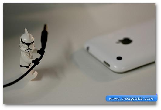 Immagine generica sull'iPhone con omino lego
