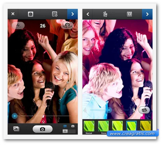Schermate dell'app GIFBoom: Animated GIF Camera per Android