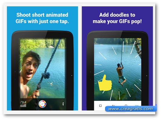 Schermate dell'app Fixie GIF Camera per Android