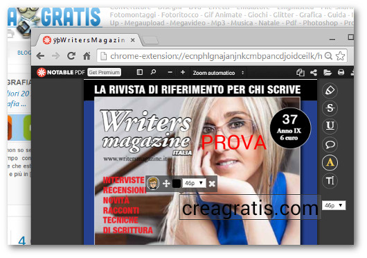 Prova di modifica di un file PDF