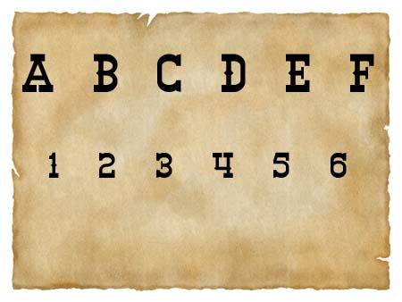 Immagine del font western Winslet