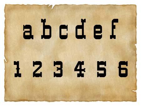 Immagine del font Western
