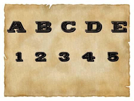 Immagine del font western Woodcut