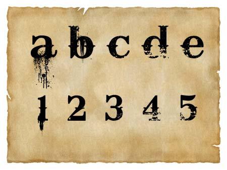Immagine del font western Bleeding Cowboys