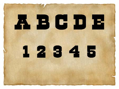 Immagine del font western Cowboys