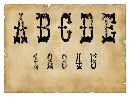 Immagine del font western Panhead