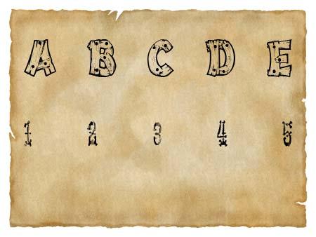 Immagine del font western Drift Type