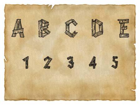 Immagine del font western Alpha Wood