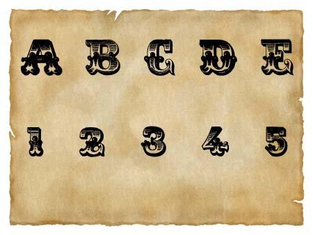 Immagine del font western Romantiques