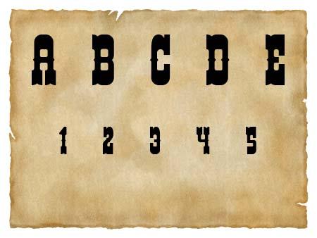 Immagine del font western Helldorado