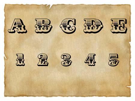 Immagine del font western Cast Iron