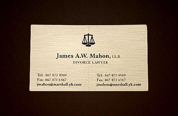 Biglietti da Visita Avvocato Divorzista