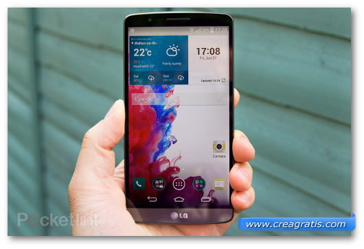Immagine del phablet LG G3