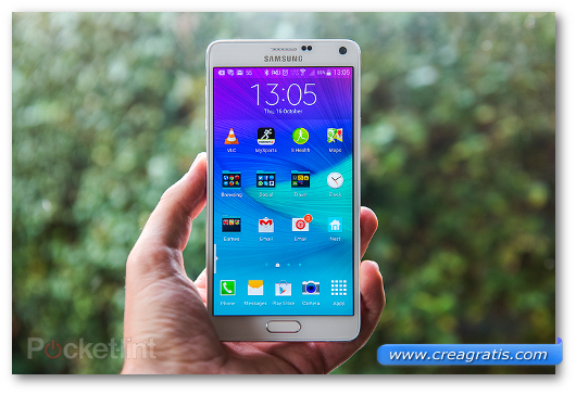 Immagine del phablet Samsung Galaxy Note 4